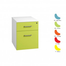 Duo Coloured Mobile Pedestal