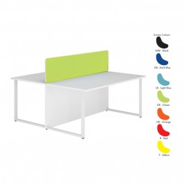 Bench Desk Back to Back with Screen - Two Person