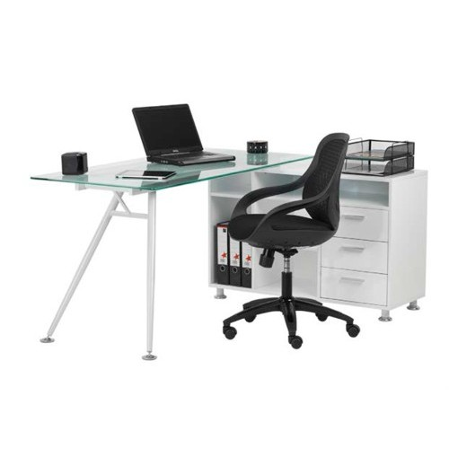 glass desk designer mesh chair - Designer Glass Desk