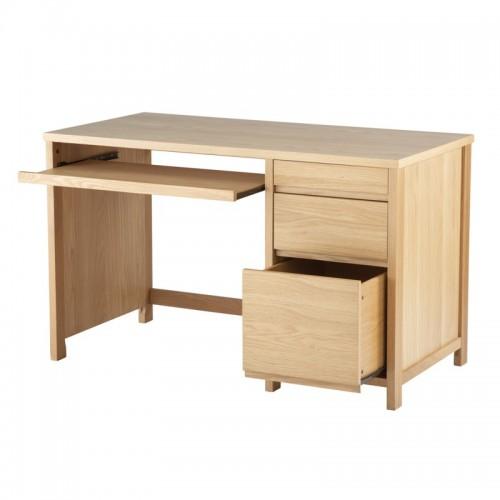 Hunter Oak Veneer Desk Home Office Furniture Uk