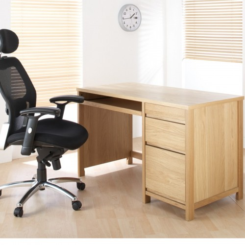 Hunter Oak Veneer Desk Home Office Furniture Uk
