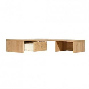 Oakwood Corner Desktop Hutch