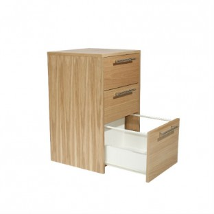 Oakwood Desk Height Pedestal