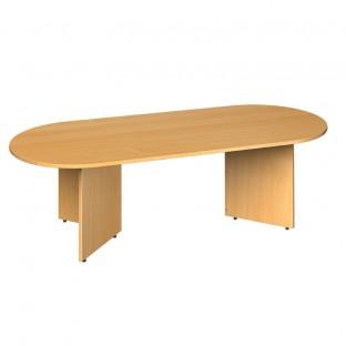 Radial End Boardroom Table Arrow Head Leg