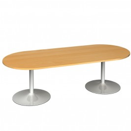 Radial End Boardroom Table Trumpet Base