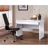 White Gloss Desk & Designer Leather Chair