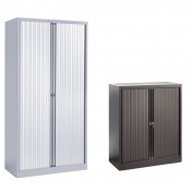 Steel Tambour Cupboards