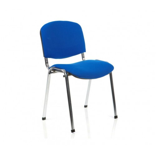Tobago Stacking Chair Brown Chrome: ISO Stacking Chair Chrome Frame