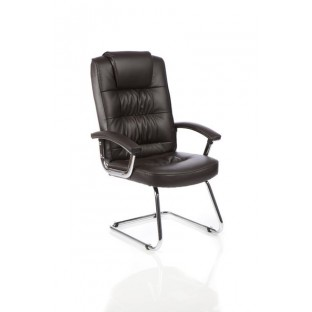Moore Deluxe Leather Cantilever Chair