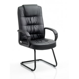 Moore Leather Cantilever Chair