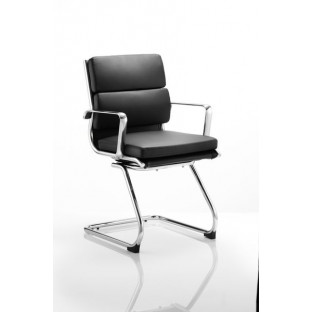 Savoy Leather Cantilever Chair