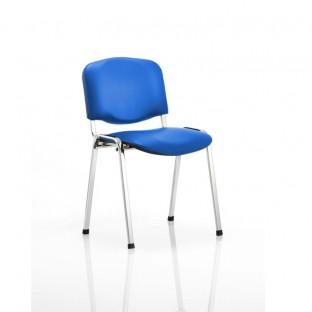 ISO Vinyl Stacking Chair Chrome Frame