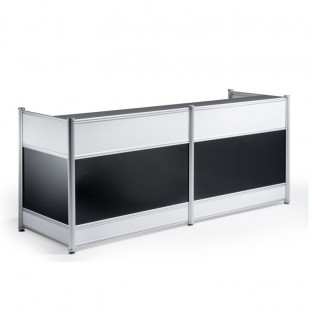 High Gloss Reception Desk Black