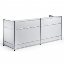 High Gloss Reception Desk White