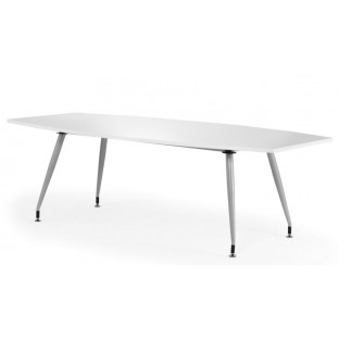 High Gloss White Boardroom Table