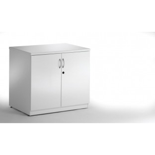 High Gloss White Credenza