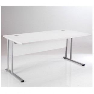 Essentials White Rectangular Desk