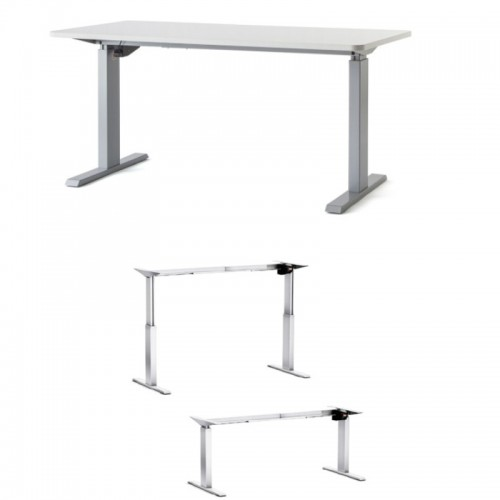 Cheap electric height adjustable desk office desks uk for Motorized adjustable height desk