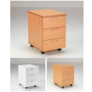 Lite 3 Drawer Mobile Pedestal