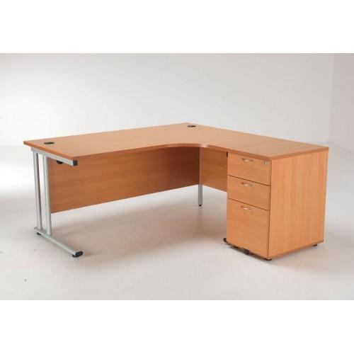 Lite Crescent Desk And Pedestal Office Desks Uk