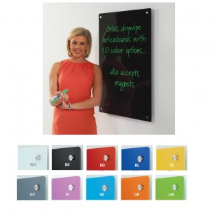 Coloured Glass Dry Wipe Boards