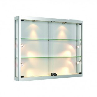 Panoramic Wall Mounted Glass Display Case