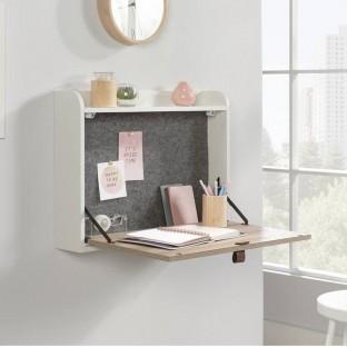Avon Leather Handled Wall Desk
