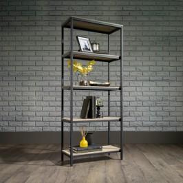 Industrial Style 4 Shelf Bookcase